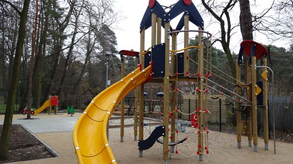 Playground in the Baths Park in Konstancin