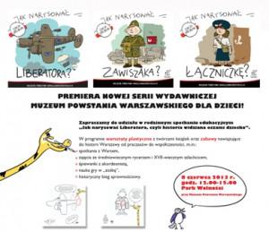 Jak narysować Liberatora? czyli piknik rodzinny w Muzeum Powstania Warszawskiego